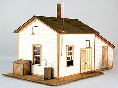 GC Laser Pump House #2 Laser-Cut Card Kit -- HO-Scale Model Building -- #19011