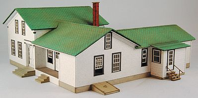 GC Laser Elfering Farm House Kit (Laser-Cut Architectural Card) -- HO Scale Model Building -- #19012
