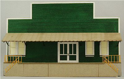 GC Laser Produce Packing Flat Background Building Kit -- Building B -- HO Scale Model Building -- #19014