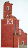 GCLaser Co-Op Backdrop Kit HO Scale Model Buildiing #19017