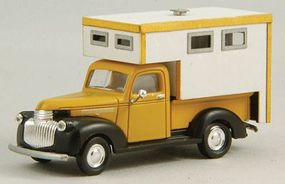 GCLaser Camper Pickup Truck Bed Kit (Laser-Cut Wood) HO Scale Vehicle Accessory #19051