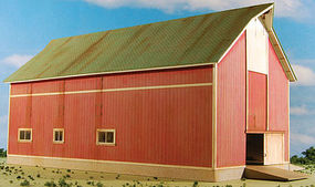 GCLaser Barn (Red) Farm Series #7 Kit HO Scale Model Railroad Building #190824