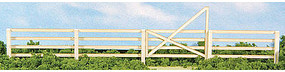 4-Slat Fence & Gate Kit (40'' 1m) HO Scale Model Railroad Accessory #19087