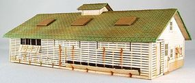 GCLaser Corn Crib/Chicken Coop Kit HO Scale Model Building #1908