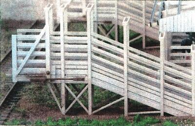 GCLaser Stock Loading Ramp (Laser-Cut Wood Kit) N Scale Model Accessory #225