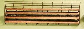 GCLaser Bleachers Kit (Laser-Cut Wood) pkg(2) N Scale Model Railroad Accessory #243