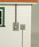 GCLaser Meter Socket 4-Pack Kit (2 Styles) O Scale Model Railroad Building Accessory #31011