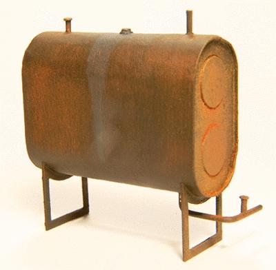 GCLaser Fuel Tank w/Pipes & Stems Laser-Cut Wood Kit O Scale Model Railroad Accessory #3104