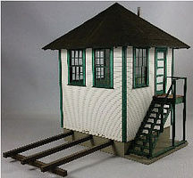 GCLaser Interlocking Tower Laser-Cut Kit - 4-7/8 x 6-7/8 x 5-3/4  12.4 x 17.5 x 14.6cm - O-Scale