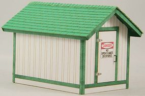GCLaser Gas House Kit O Scale Model Railroad Building #3294