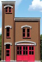 GCLaser Firehouse #3 Background Building Front Flat (Precolored Kit) O Scale Model Building #390241