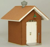 GCLaser Brick Oil Shed (Laser-Cut Kit) O Scale Model Building #39064