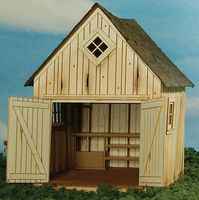 GCLaser Dilapidated Shed Kit O Scale Model Railroad Building #39084