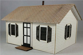 GCLaser Open Hearth Inn Rental Unit Laser-Cut Kit - 5-1/8 x 4-3/4 x 3-3/8  13 x 12.1 x 8.6cm - O-Scale