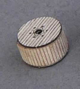 GC Laser Covered Cable Reel pkg(6) Kit (Laser-Cut Wood) -- Z Scale Model Railroad Accessory -- #51192