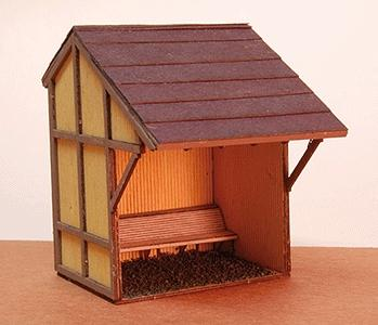 GC Laser Pennsylvania Railroad Passenger Shelter Kit (Circa 1911) -- Z Scale Model Accessory -- #5250