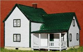 GCLaser Farm House Kit (Laser-Cut Wood) Z Scale Model Railroad Building #5346