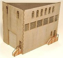 GCLaser 4-Story Angled Background Building Kit (Version #1 Building Back) Z Scale #55604