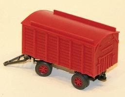 Gem-City Wgn Baggage Red - HO-Scale