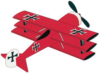 Go Fly A Kite Red Baron Triplane 3D 40''