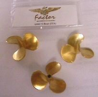 G-Factor German Schnellboot Brass Propellers for Italeri Plastic Model Ship Accessory 1/35 #13502