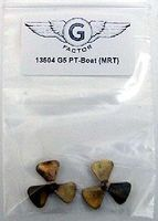 G-Factor G5 PT Boat Brass Propeller for Merit Plastic Model Ship Accessory 1/35 Scale #13504