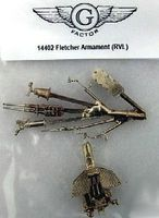 G-Factor USS Fletcher White Bronze Armament for Revell Plastic Model Ship Accessory 1/144 #14402
