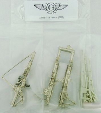 G-Factor models F14 Tomcat White Bronze Landing Gear -- Plastic Model Aircraft Parts -- 1/32 Scale -- #32018