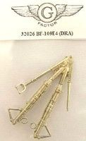 G-Factor BF109E4 White Bronze Landing Gear for Dragon Plastic Model Aircraft Parts 1/32 Scale #32026