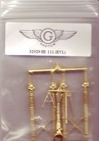 G-Factor He111 Brass Landing Gear for RVL Plastic Model Aircraft Accessory 1/32 Scale #32029