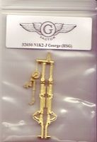 G-Factor N1K2J George Brass Landing Gear for HSG Plastic Model Aircraft Accessory 1/32 #32030