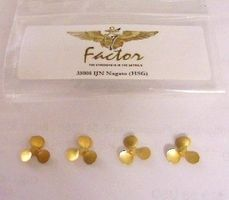 G-Factor IJN Nagato Brass Propellers for Hasegawa (4) Plastic Model Ship Parts 1/350 Scale #35008