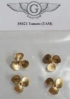 G-Factor IJN Yamato Brass Propellers for Tamiya Plastic Model Ship Parts 1/350 Scale #35021