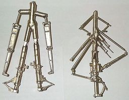 G-Factor F14 Tomcat White Bronze Landing Gear for Hasegawa Plastic Model Aircraft Parts 1/48 #48005