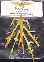 G-Factor F15 Eagle Brass Landing Gear for Hasegawa Plastic Model Aircraft Parts 1/48 Scale #48006