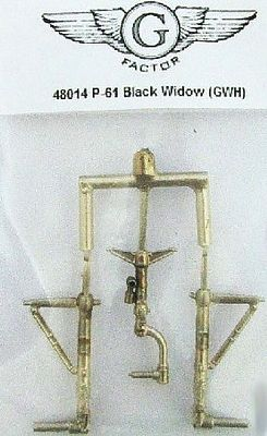 G-Factor P61 Black Widow White Bronze Landing Gear Plastic Model Aircraft Parts 1/48 Scale #48014
