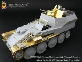 Griffon-Model 1/35 Flakpanzer 38(t) Gepard Fenders & Late Version Flak 38 Gun Detail Set w/Resin Parts for DML #6469