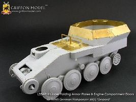 Griffon-Model 1/35 Flakpanzer 38(t) Gepard Upper Folding Armor Plate & Engine Compartment Doors for DML #6469