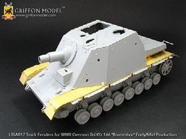 Griffon-Model Sdkfz 166 Brummbar Early/Mid Track Fenders Plastic Model Tank Accessory 1/35 Scale #l35a017