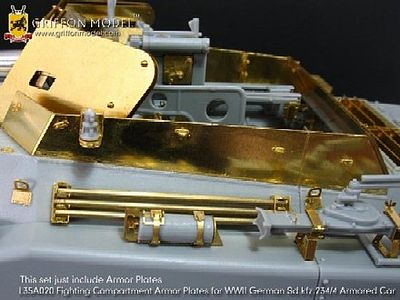 Griffon-Model SdKfz 234/4 Compartment Armor Plates Plastic Model Halftrack Accessory 1/35 Scale #l35a020
