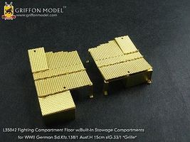 Griffon-Model 1/35 SdKfz 138/1 Ausf H 15cm sIG33/1 Grille Compartment Floor w/Built in Stowage Detail Set for DML