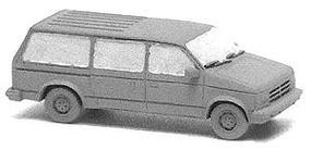 GHQ Dodge Grand Caravan Mini-Van (Unpainted Metal Kit) N Scale Model Railroad Vehicle #51006