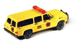 GHQ Chevy Suburban Fire Chiefs Truck (Unpainted Metal Kit) N Scale Model Railroad Vehicle #51014