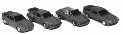 GHQ Sports Car Variety Pack (Unpainted Metal Kit) N Scale Model Railroad Vehicle #51015