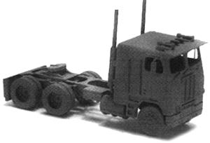 GHQ 1975 Freightliner Cab-Over Semi Tractor (Unpainted Metal Kit) N Scale Model Vehicle #52005