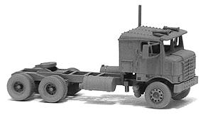 GHQ 1953 Bullnose Kenworth Semi Tractor (Unpainted Metal Kit) N Scale Model Vehicle #56004