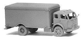 GHQ Cabover w/Refrigerated City Delivery Body (Unpainted Metal Kit) N Scale Model Vehicle #56005