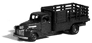 GHQ 1941 Chevrolet 1-Ton Truck w/Stake-Body (Unpainted Metal Kit) -- N Scale Model Vehicle -- #56010