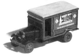 GHQ 1930s Ford Model AA Railway Express Agency (Unpainted Metal Kit) N Scale Model Vehicle #56014
