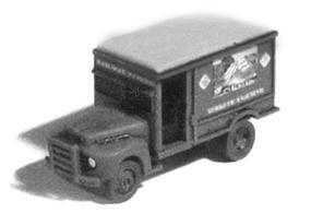 GHQ 1950s Ford Railway Express Agency Van (Unpainted Metal Kit) N Scale Model Vehicle #56016